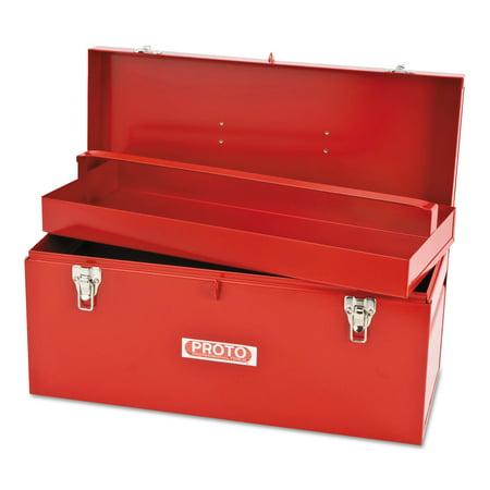 Proto General Purpose Tool Boxes, Double Latch, 20 x 8 1/2 x 9 1/2, Steel, - Proto Tool Box