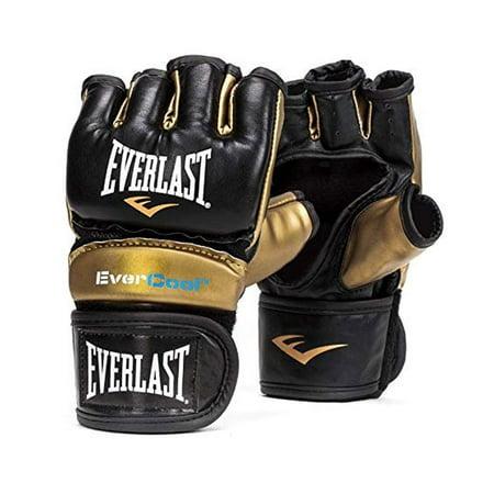 Everlast Everstrike L/XL Light Bag MMA Grappling Training Gloves, Black and