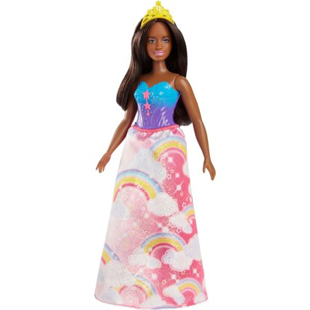 Barbie Dreamtopia Princess Doll with Pink Rainbow-Print