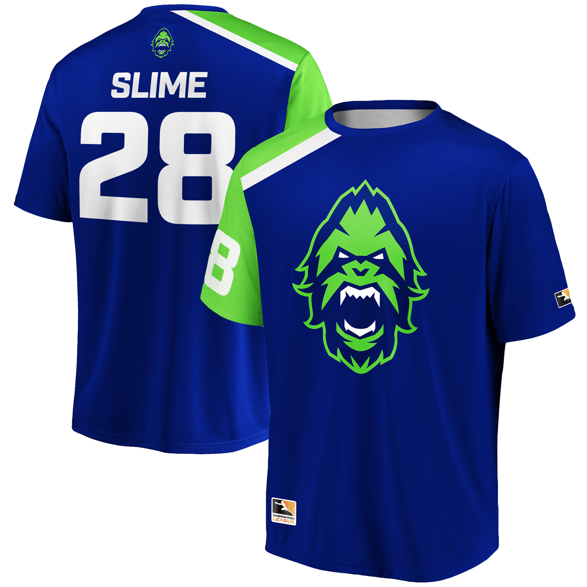 SLIME Vancouver Titans Overwatch League Replica Home Jersey - Blue