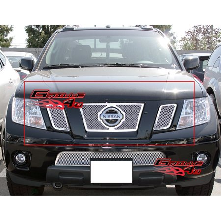 Fits 09-19 Nissan Frontier Stainless Mesh Grille Insert #N76641T ()