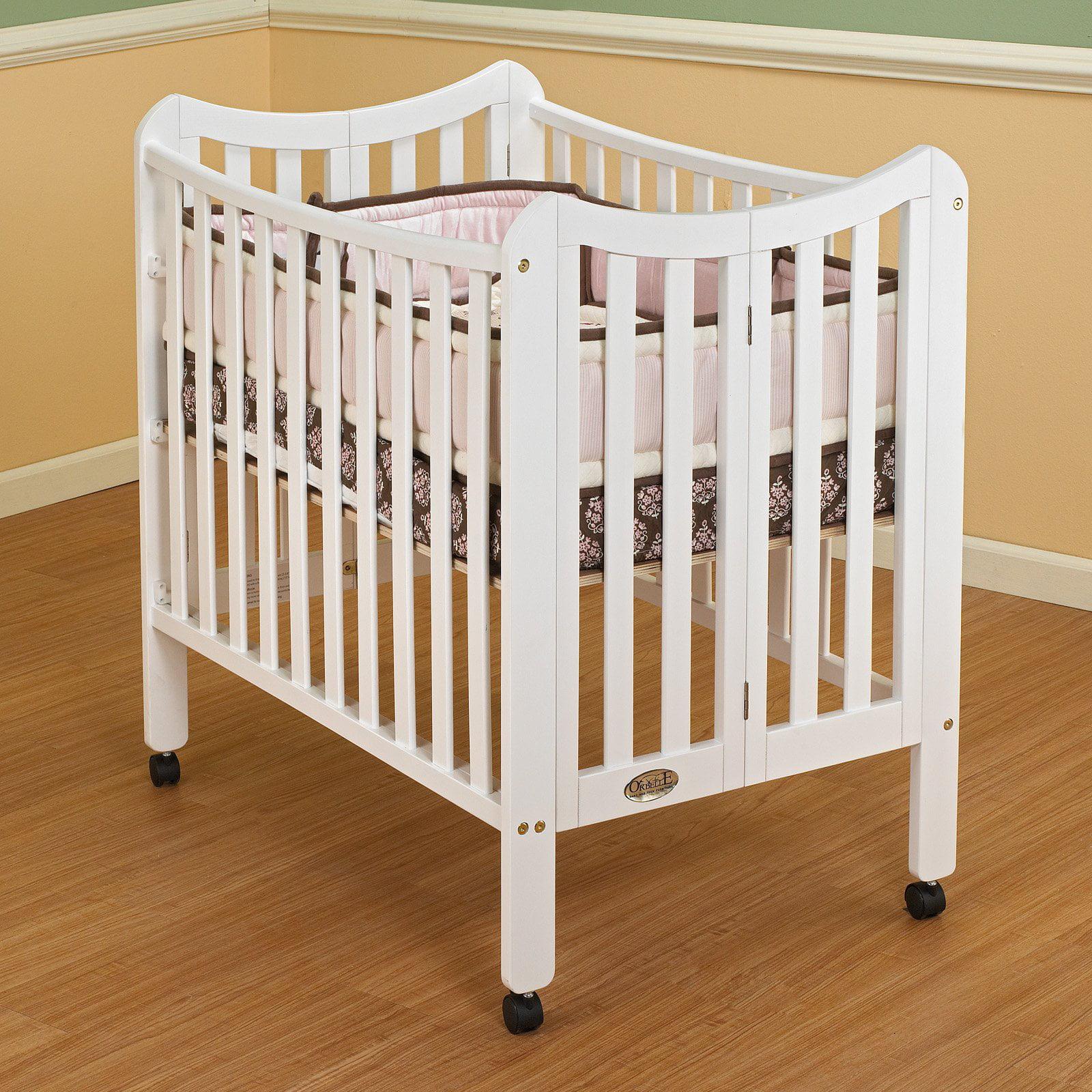 Orbelle Tian Three Level Portable Crib - White