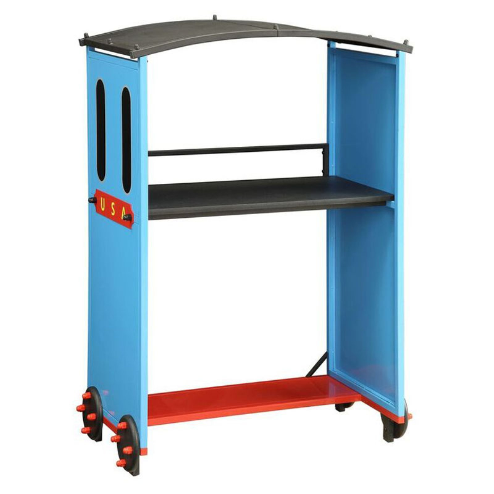 Acme Tobi Desk, Blue/Red and Black (Box 2 of 2)
