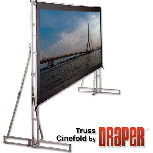 "Truss Style Cinefold Cineflex Portable Projection Screen Viewing Area: 22' 11"" diagonal"