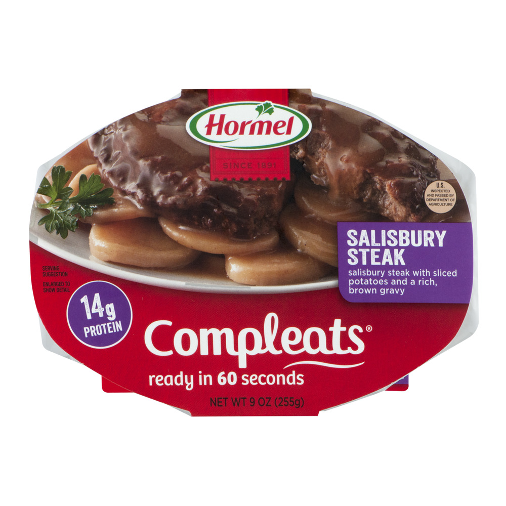 HORMEL COMPLEATS Salisbury Steak 9 oz. Sleeve by Hormel Foods Corporation