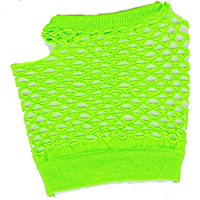 Cp Adults Sexy Neon Green Fishnet Fingerless 80s Rock Costume Half Gloves