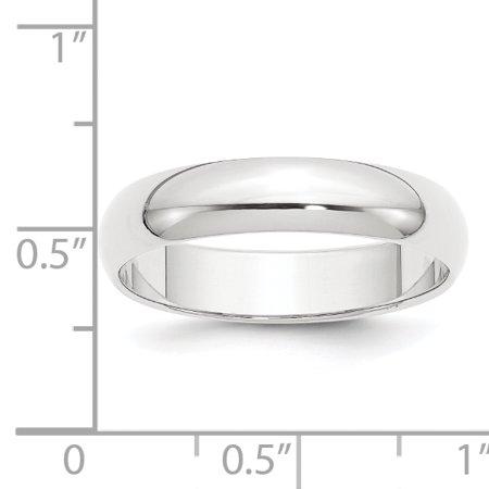Platinum 5mm Half-Round Featherweight Band Size 8 - image 3 de 3