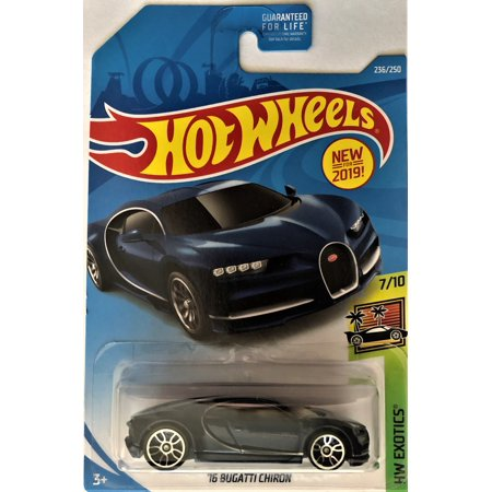 Hot Wheels Value (Hot Wheels 2019 HW Exotics 7/10 '16 Bugatti Chiron 236/250)