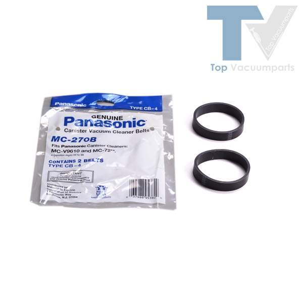 Panasonic Type CB-4, MCV-9610 Canister Vacuum Cleaner Power Head Flat Belts 2PK // MC-270B
