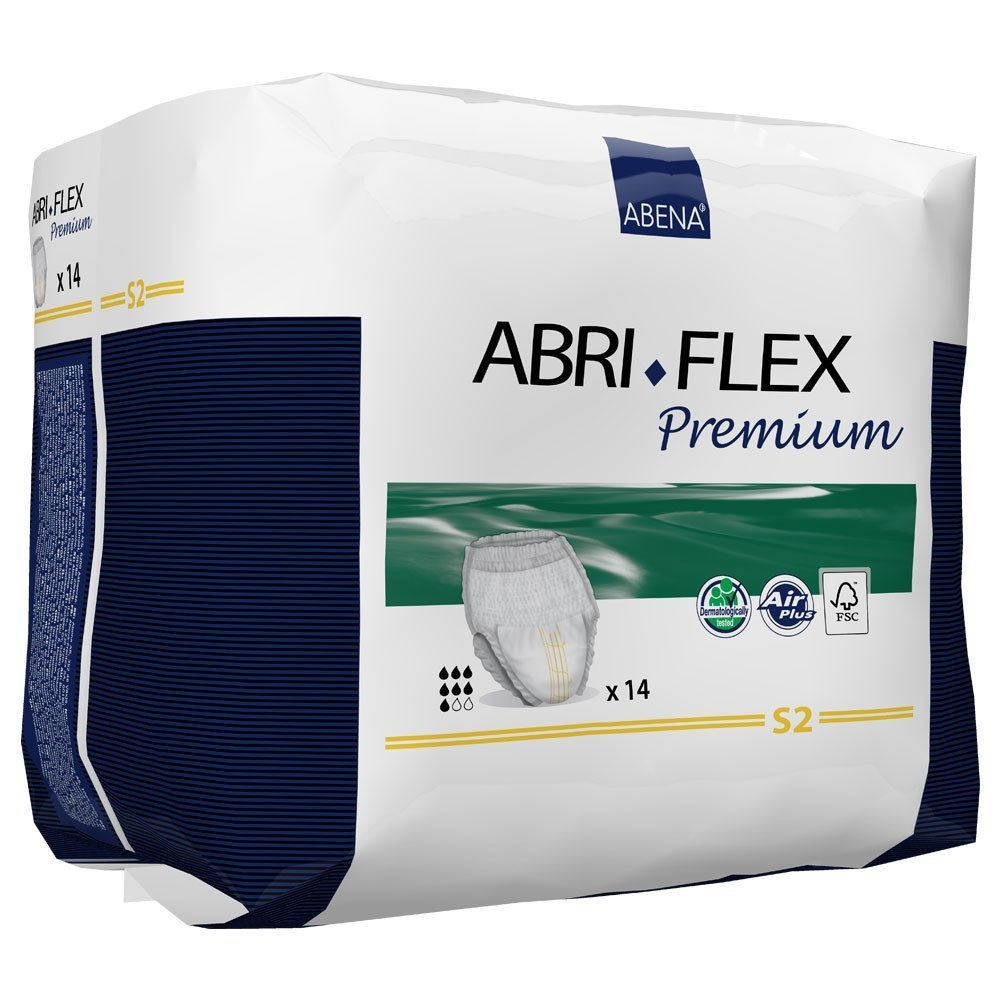 Abri-Flex Premium S2 Protective Underwear, Small - Case of 84