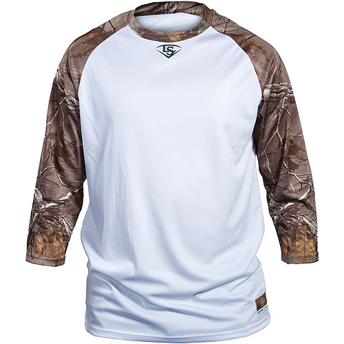 Louisville Slugger Adult Slugger Loose Fit 3/4-Sleeve Shirt, Camo