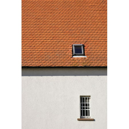 Doors Windows Roof Tiles - Canvas Print Home Sky Tile Architecture Red Window Brick Roof Stretched Canvas 10 x 14
