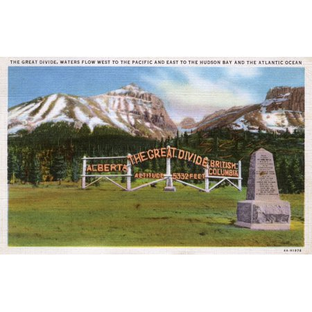 The Great Divide Alberta British Columbia Canada Poster Print By Mary Evans  Grenville Collins Postcard (Mi Postcard)