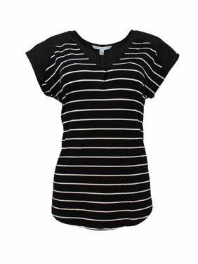 Adrienne Vittadini Womens Short Sleeve Shirt (Deep Rose, Small)
