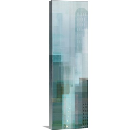 Emerald City Vintage (Great BIG Canvas | Dan Meneely Premium Thick-Wrap Canvas entitled City Emerald Panel II)