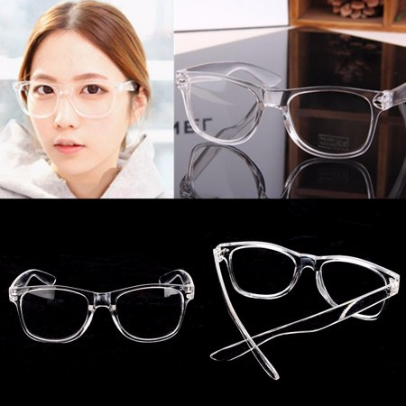 Fashion Eyeglass Frame Vintage Transparent Glasses Retro UV 400 Plain Lens