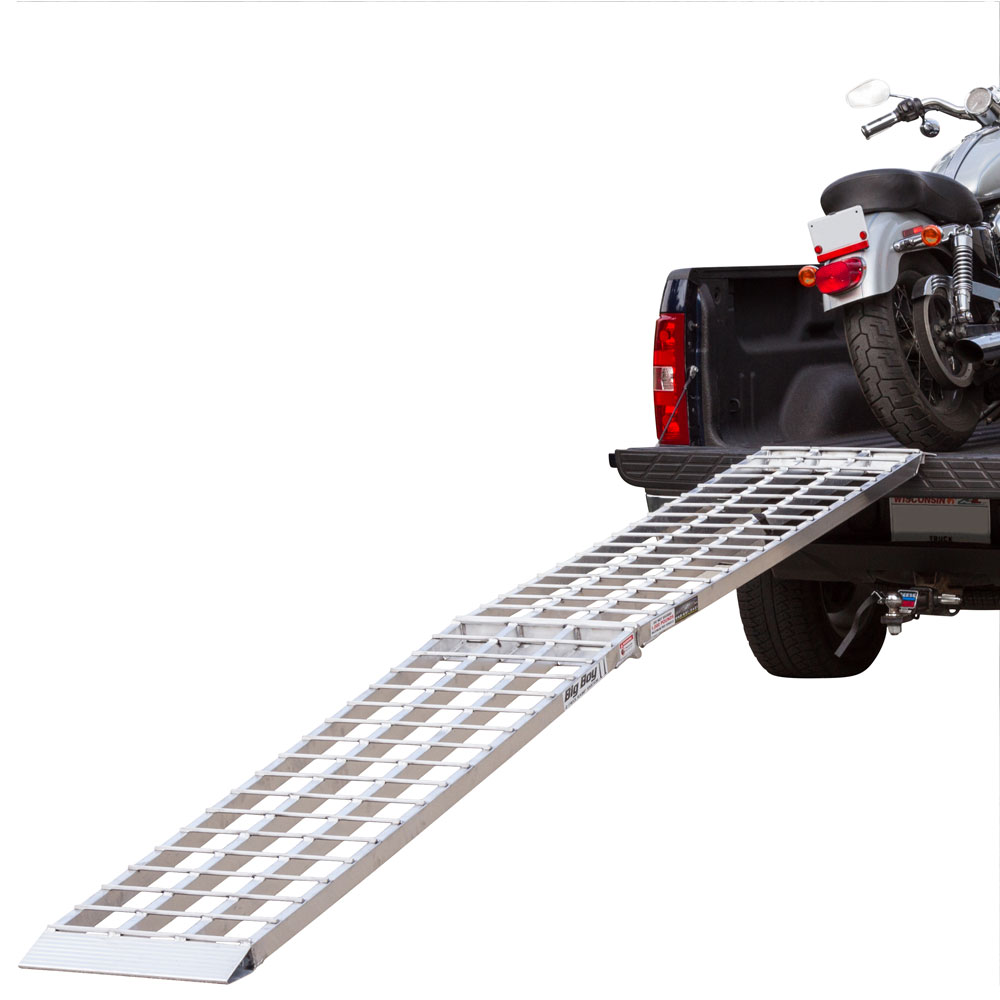 "120"" Single Runner Folding Aluminum Motorcycle Ramp"