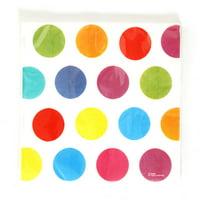 Multi-Color Polka Dot Printed Napkins Case Pack 36