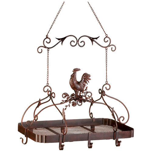 Zingz & Thingz Rooster Hanging Pot Rack