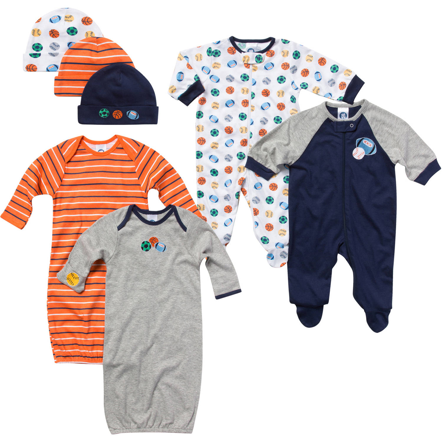 Gerber Newborn Baby Boy Day & Night Gift Set,  7-Piece