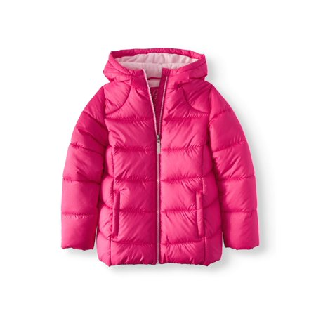 Wonder Nation Girls' Quilted Bubble Jacket