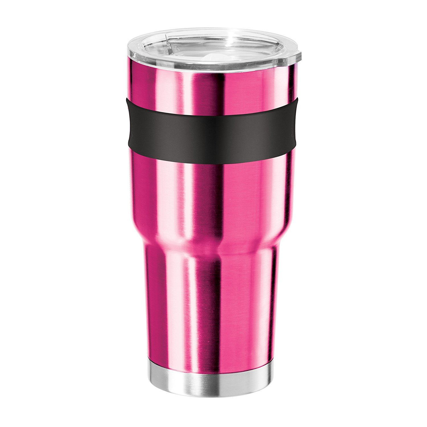 Oggi Contour X-Large Double Wall Vacuum Sealed Thermal Travel Mug, 30 oz Stainless
