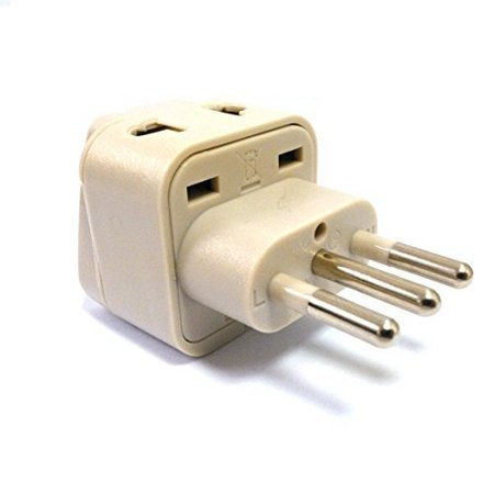 Simran Universal 2 in 1 Plug Adapter for Europe, Italy, Turkey, Uruguay and More, CE Certified - RoHS Compliant