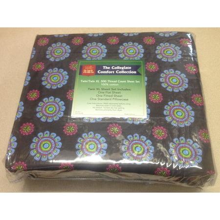 twin extra long sheet sets back to school college dorm sheets henna black. Black Bedroom Furniture Sets. Home Design Ideas