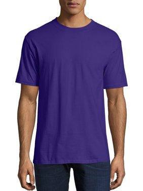 Hanes Men's and Big Men's Beefy-T Crew Neck Short Sleeve T-Shirt, Up To 6XL
