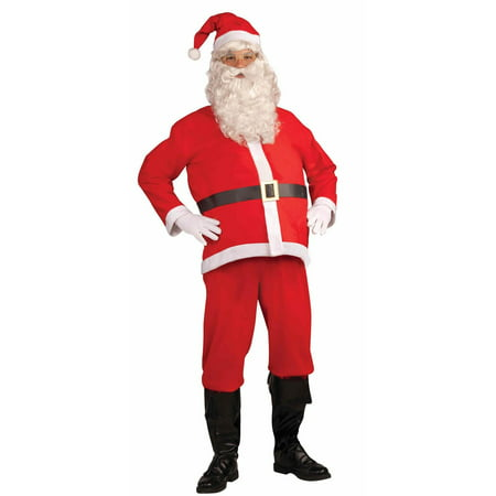 Santa Clause Disposable Adult Costume - Cheap Easy Adult Costumes