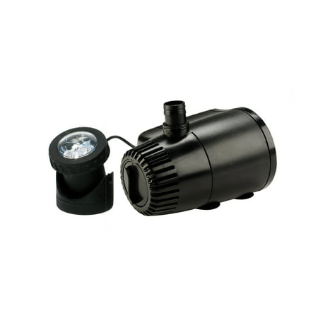 aquanique 140 GPH Fountain Pump Plus Light with Low Water Auto Shut-off