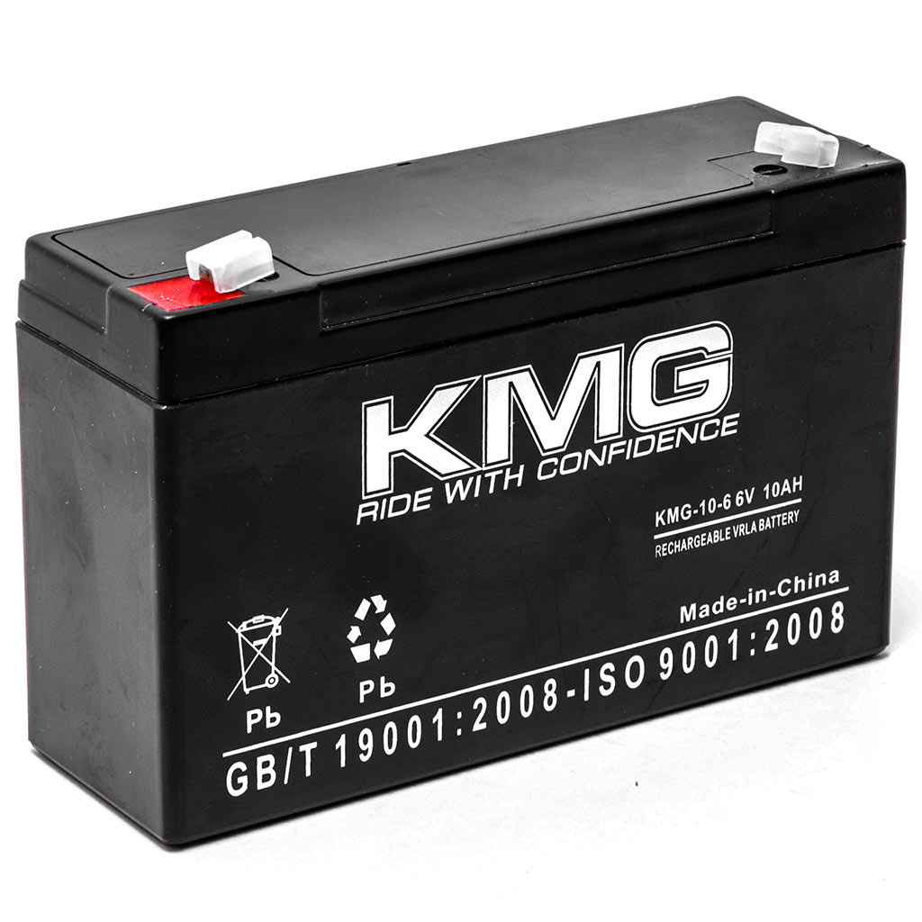 KMG 6V 10Ah Replacement Battery for YORK-WIDE LIGHT NB106 MX2E1