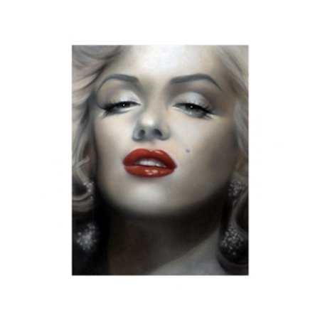 Marilyn Red Lips Poster Print By Shen  17 X 22