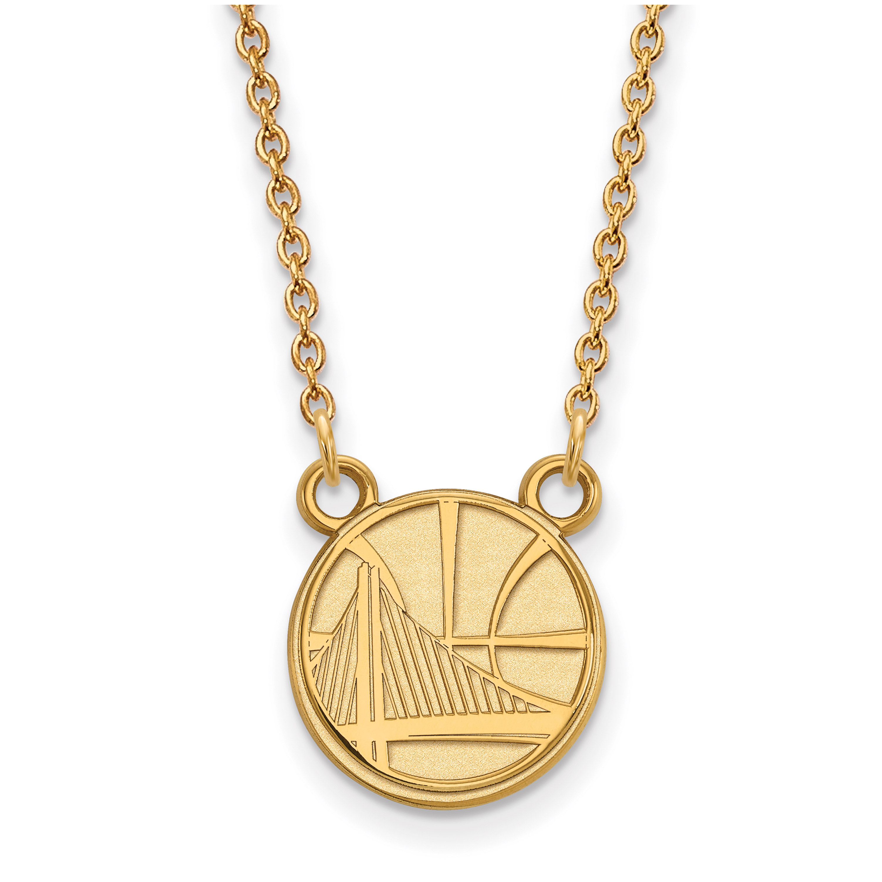 Golden State Warriors Women's Gold Plated Pendant Necklace - No Size