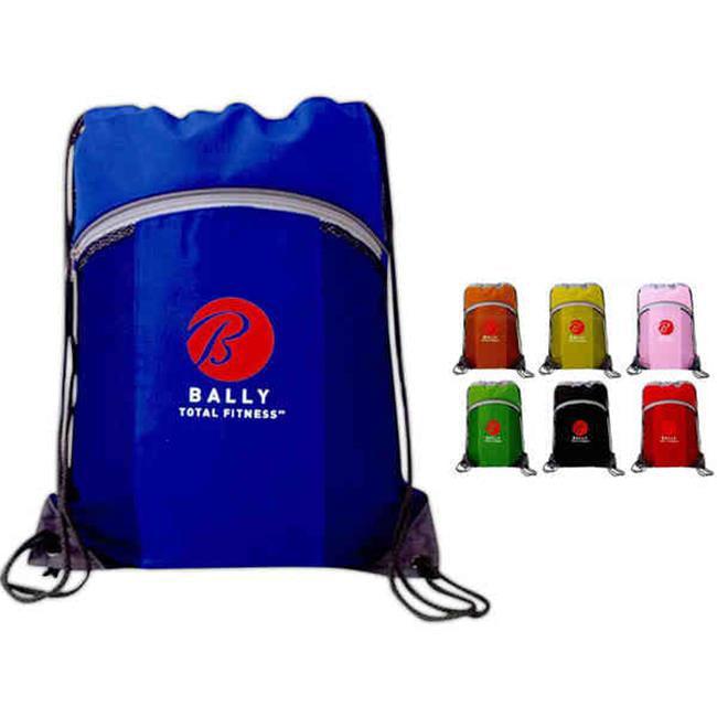 Superbagline QSB63 Orange Cinch Sport Bag - Pack of 25