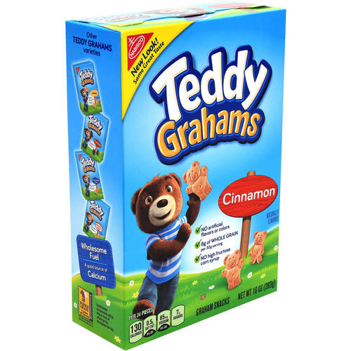 Nabisco Teddy Grahams Cinnamon Graham Snacks, 10 oz