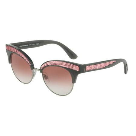 0612eda0ac7 Dolce   Gabbana - Dolce   Gabbana Cat Eye Sunglasses DG6109 31238D 50 -  Walmart.com