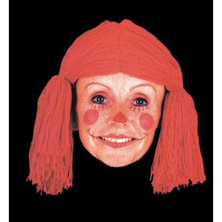 Star Power Raggedy Ann Doll Annabelle Costume Wig, Red, One Size