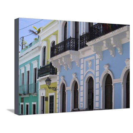 The Colonial Town, San Juan, Puerto Rico, West Indies, Caribbean, USA, Central America Stretched Canvas Print Wall Art By Angelo Cavalli ()