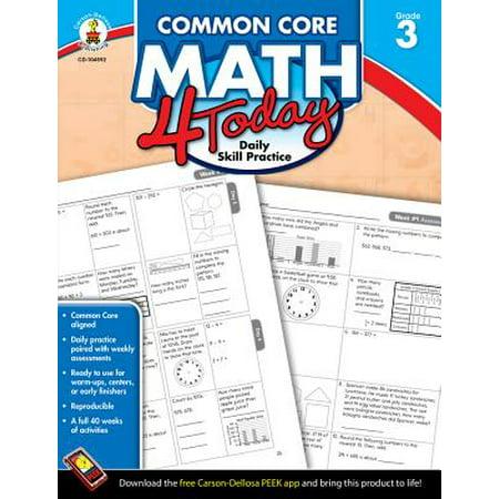 Common Core Kindergarten (Common Core Math 4 Today, Grade 3 : Daily Skill)