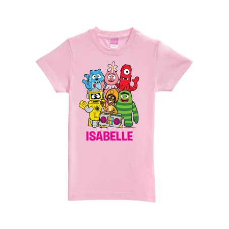 Personalized Yo Gabba Gabba Group Toddler Girls' Fitted Tee, - Yo Gabba Costume