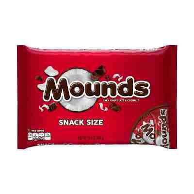 Mounds Chocolate Bar (Mounds Dark Chocolate Snack Sized Dark Chocolate Bars - 11.3oz )