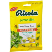 Ricola Sugar Free Herb Throat Drops Lemon Mint 19 Each (Pack of 2)