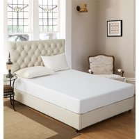 Bed Bug & Liquid Proof Waterproof Mattress Protector,Super Soft Quiet - Twin/Full/Queen/King Size in Plain White