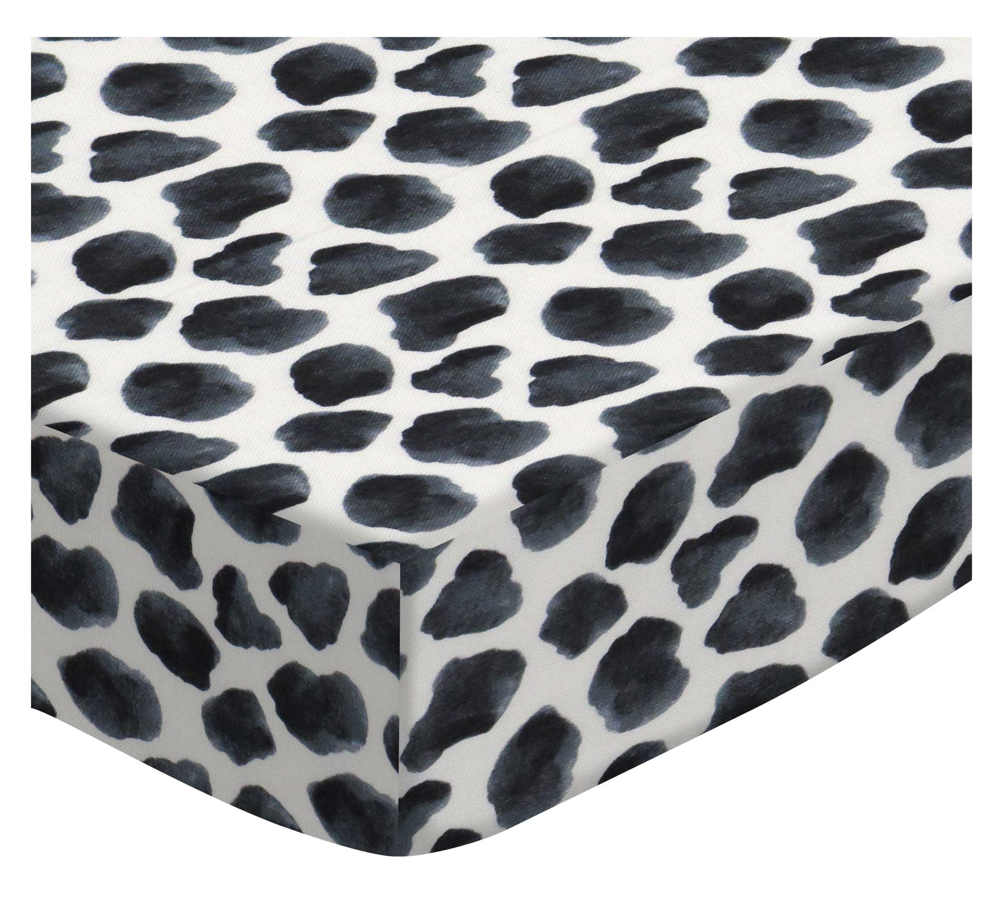 SheetWorld Crib Sheet Set - Black Cow Spots