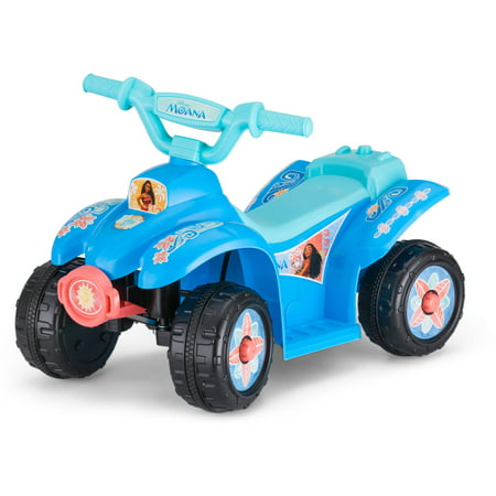 kid trax disney moana 6v battery operated quad ride on