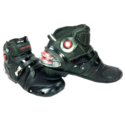 Men's Motorcycle Street Bike Black Racing Boots