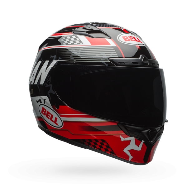 Bell Powersports Qualifier DLX Isle of Man Helmet Black/Red XL  7081471