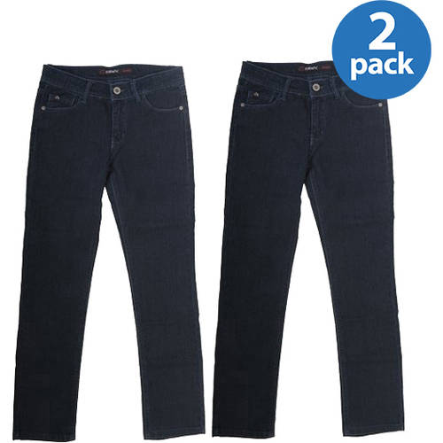 Jordache Girls' Skinny Denim Jean, Slim Fit - 2-Pack Bundle