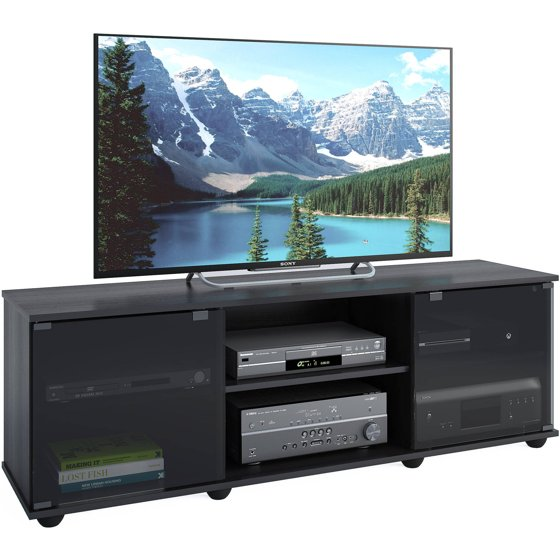 Corliving Fiji Tv Bench For Tvs Up To 64 Ravenwood Black Walmart Com